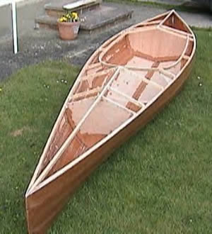 50/50 sailing canoe under construction