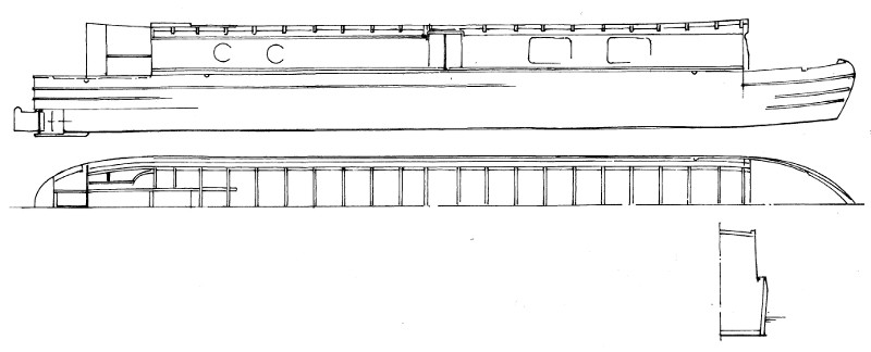 57' Avoncliff Narrow Boat Plans