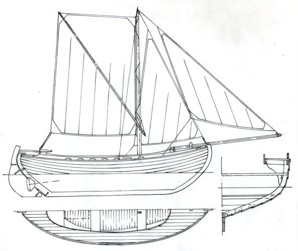"18'7"" Snipa Sprit Sailing Fishing Boat"
