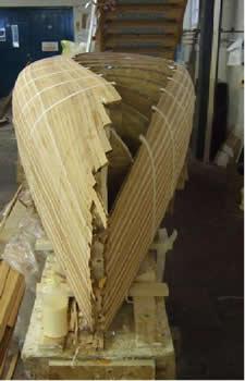 Open Strip Plank Canoes